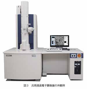 汎用透過電子顕微鏡の外観例