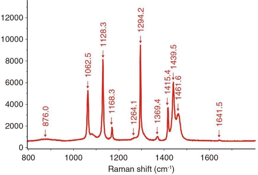 図2 ポリエチレンのラマンスペクトル