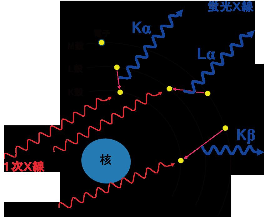 図1 蛍光X 線の発生